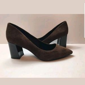 New Shoes Of Prey Brown Suede Pointed Toe